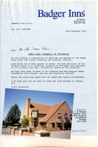Badger Inns Letter