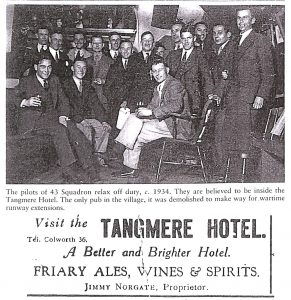 Tangmere Hotel Advert